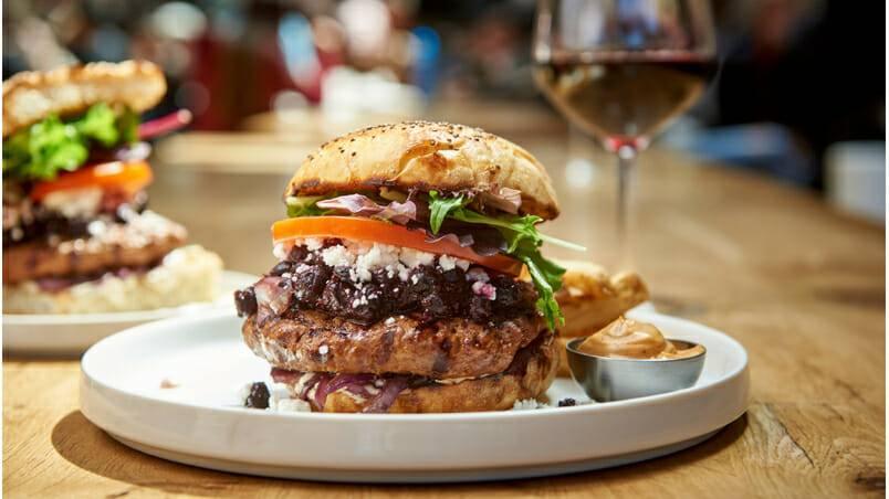Nuberger Blueberry Yum Yum Burger