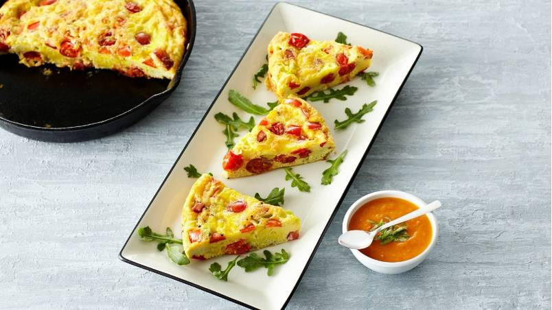 Angel Sweet® Frittata with Sour and Sweet Twister™ Sauce