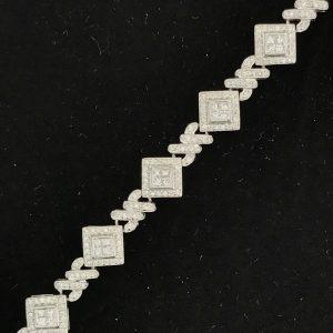 Harry Glinberg Jewelers - 14K White Gold Bracelet