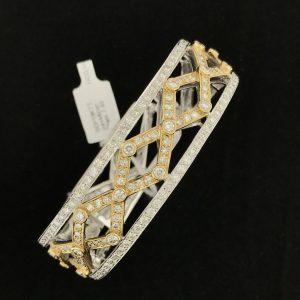 Harry Glinberg Jewelers - 18K Two Tone Diamond Bracelet