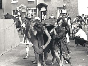 Pre ACT: a scene of Roman cruelty in the 1980 Axbridge Pageant