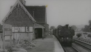Sandford and Banwell Station back then - it still looks the same now - but there are no trains alas