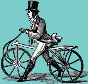 Victorian cyclist hobby horse rider