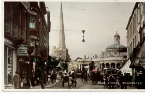 INTER WAR YEARS: a view of Cornhill in Bridgwater from the 1930s from Fore Street