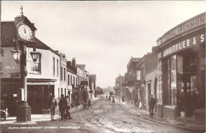 MUDDY: it may look picturesque but horse manure was an eternal problem in all streets of Edwardian Highbridge