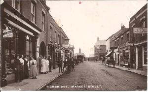 1912: a smart looking Market Street in Highbridge with everyone outside for the photo