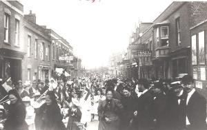 VICTORIANS: the queen's jubilee celebrated in 1897 in Market Street