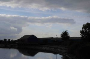 Dunball Wharf on the River Parrett - one of the last inland ports in Somerset