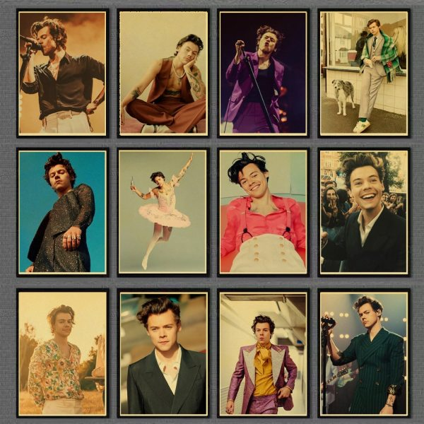 Famous Singer Harry Style Retro Poster