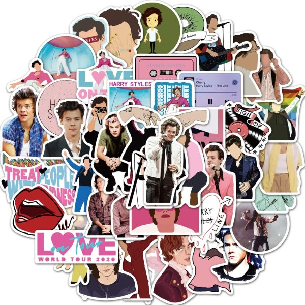 50Pcs Not Repeat British Singer Harry Style Stickers