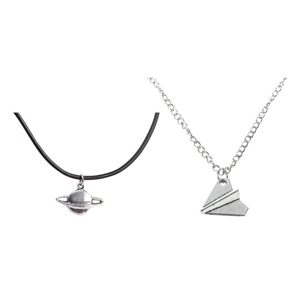 Harry Styles Paper Airplane Necklace (Silver Color)