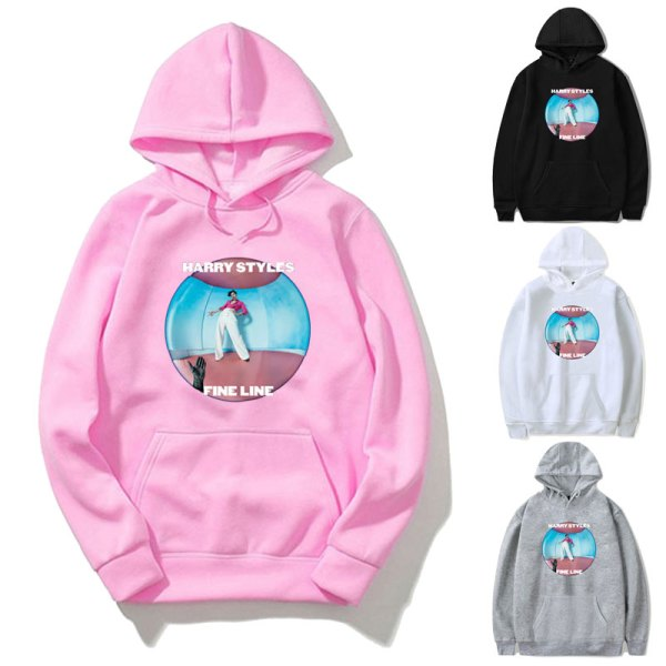 Vogue Streetwear Sweatshirt Women Harry Styles FINE LINE Hoodie Pink Coat Men And Women