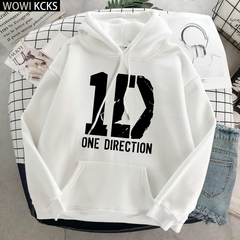 One Direction Hoodies Winter Clothes Streetwear Women Harry Styles Merch Print