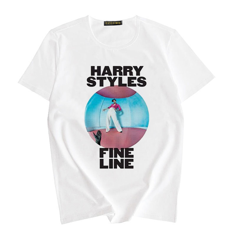Harry Styles Hip-hop T-shirt Cartoon Graphic Tops & Tee