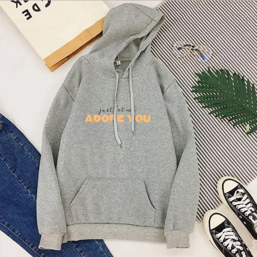 "Harry Styles ""Just Let Me Adore You"" Casual Sweatshirt Hoodie 2020 Women"