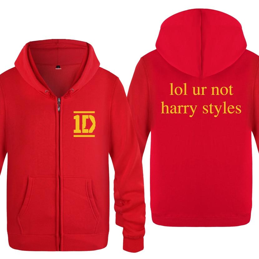 Harry Styles Men's Fleece Zipper Cardigans Hoodies Sweatshirts