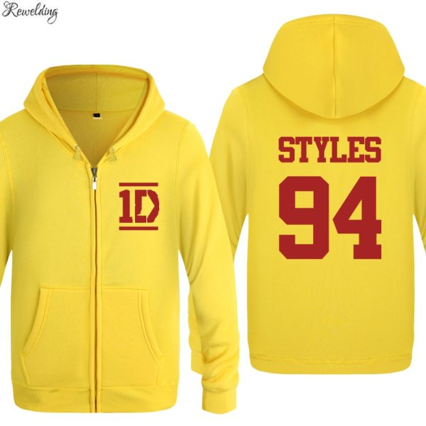 Harry Styles Men Fashion Long Sleeve Fleece Zipper Jackets Cardigans Hooded Sweatshirts