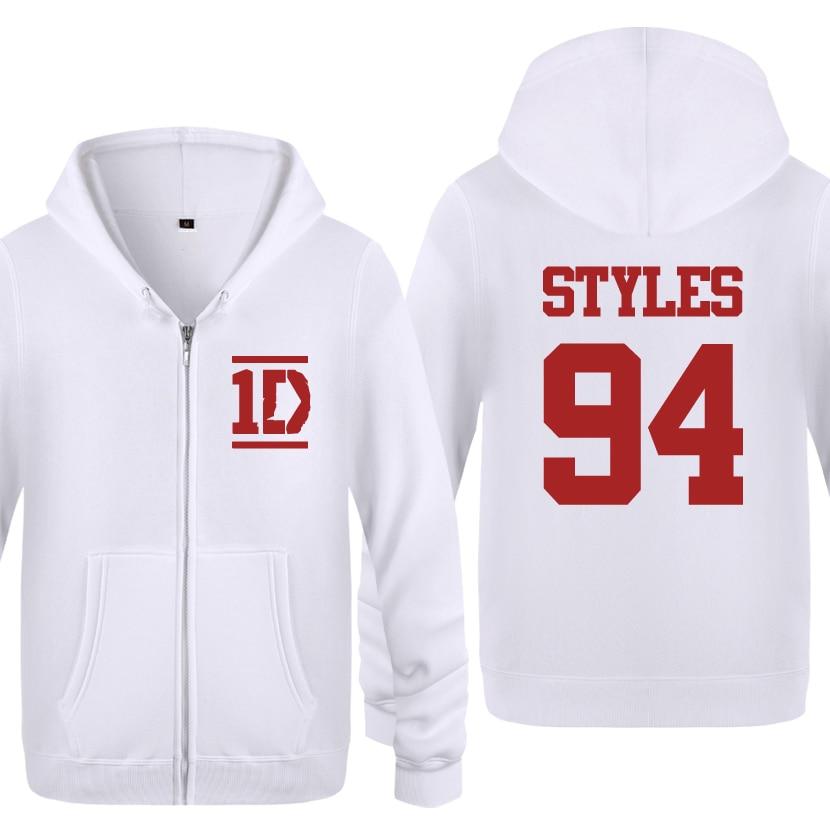 Harry Styles Men Fashion Long Sleeve Fleece Zipper Jackets Cardigans Hooded Sweatshirts