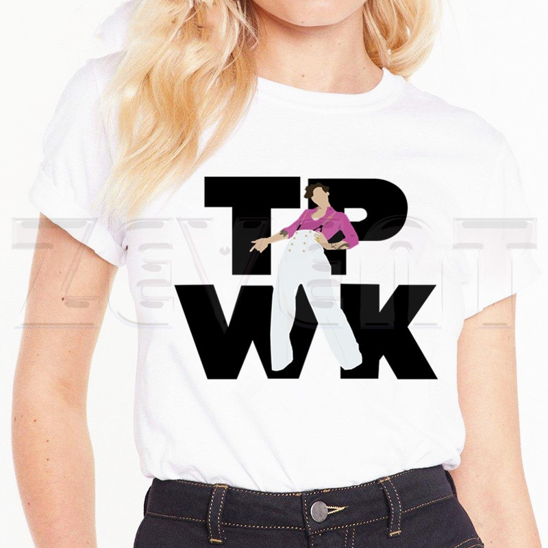 "Harry Styles ""Fine Line"" Women's Shirts Print Harajuku Short Sleeve T-shirt"