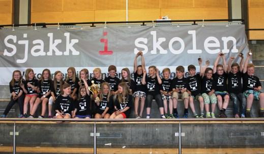Vinnerne av Sjakk4ern. Kila barneskole