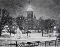 Winter Scene Connecticut State Capitol & Bushnell Park (image courtesy Connecticut State Library RG 800)