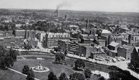 Wright's Panoramic View of Hartford No. 1 Looking North circa 1905