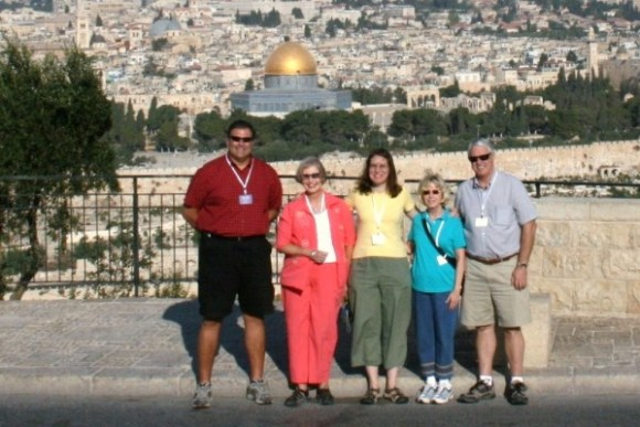 Allen, Lillian, Kathy, Sandra and Bob in front of the Holy City