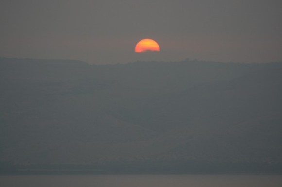 Sunrise over Sea of Galilee 9/2/09