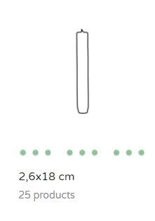 Dinerkaars 2.6 x 18 cm