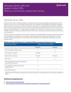 Windows Server 2016 and System Center 2016 licensing for SPLA