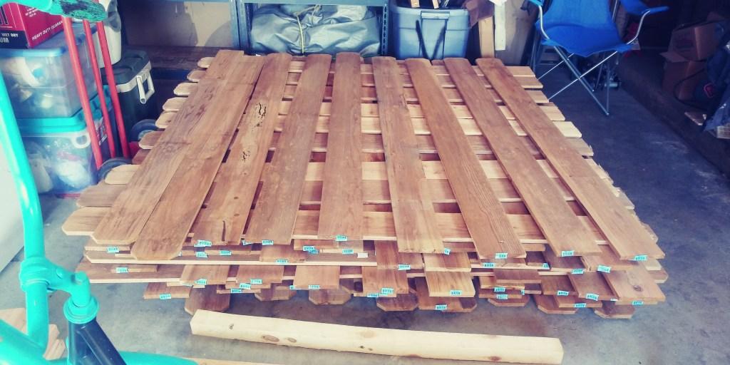 cedar planks for diy camper build