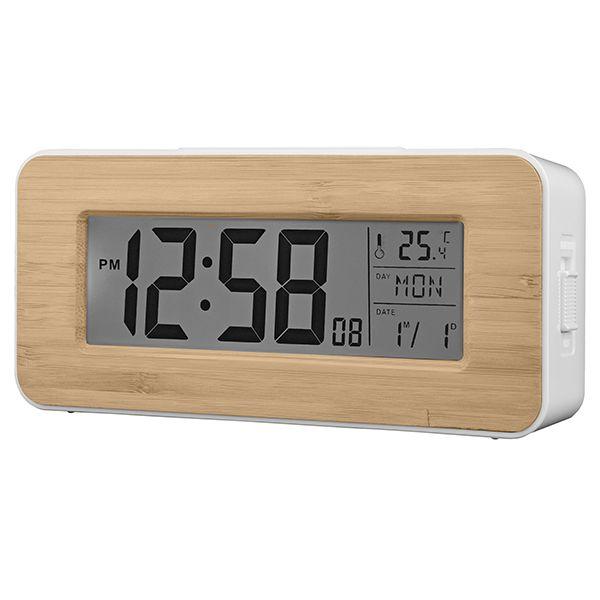 Acctim Otto Alarm Clock Bamboo 71851