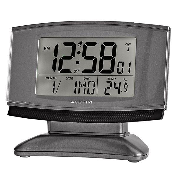 Acctim Cuba Alarm Clock Anium Black