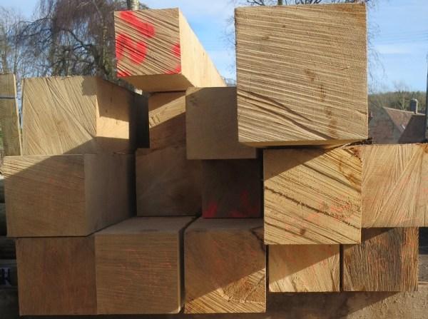 Oak sawn end