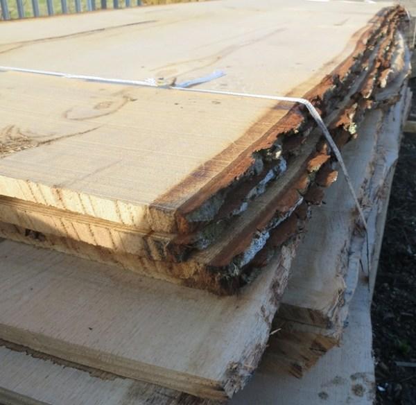 Waney edge oak boards