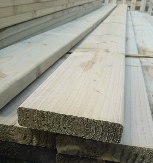 150x38mm planed and eased smooth decking boards