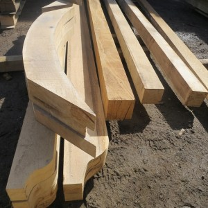 Oak pergola components
