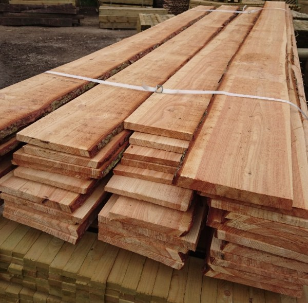 Waney edged Boards - Larch