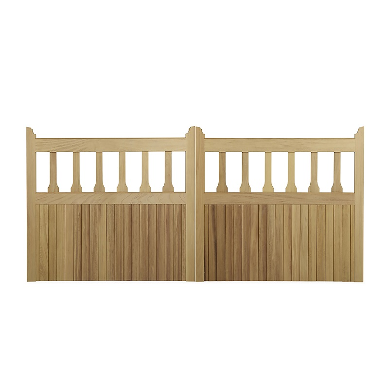 Pair of Mendip gates in Iroko hardwood