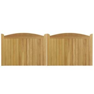 Cameo gates in Iroko hardwood