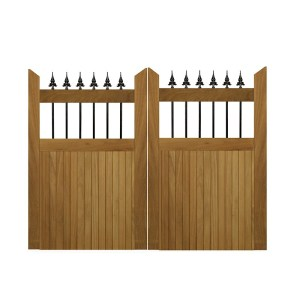 Hemington gates-Iroko hardwood