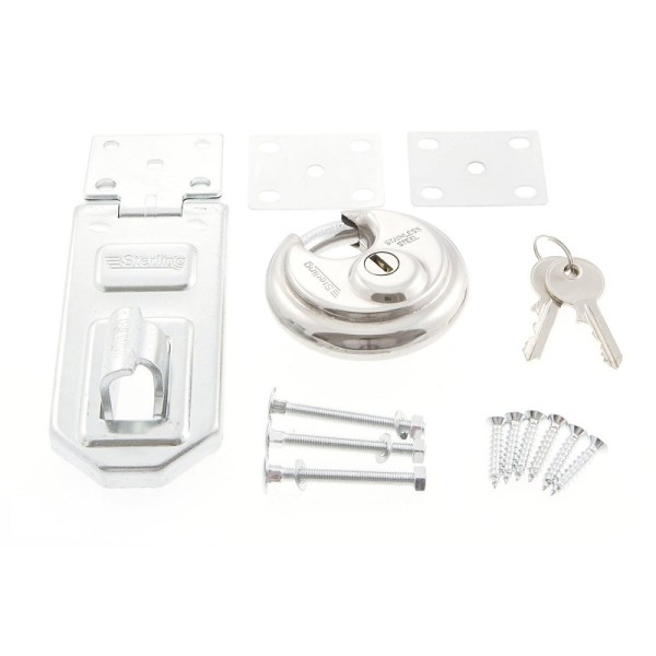 Sterling PHS200 70mm Closed Shackle Disc Padlock with 120mm Hasp & Staple