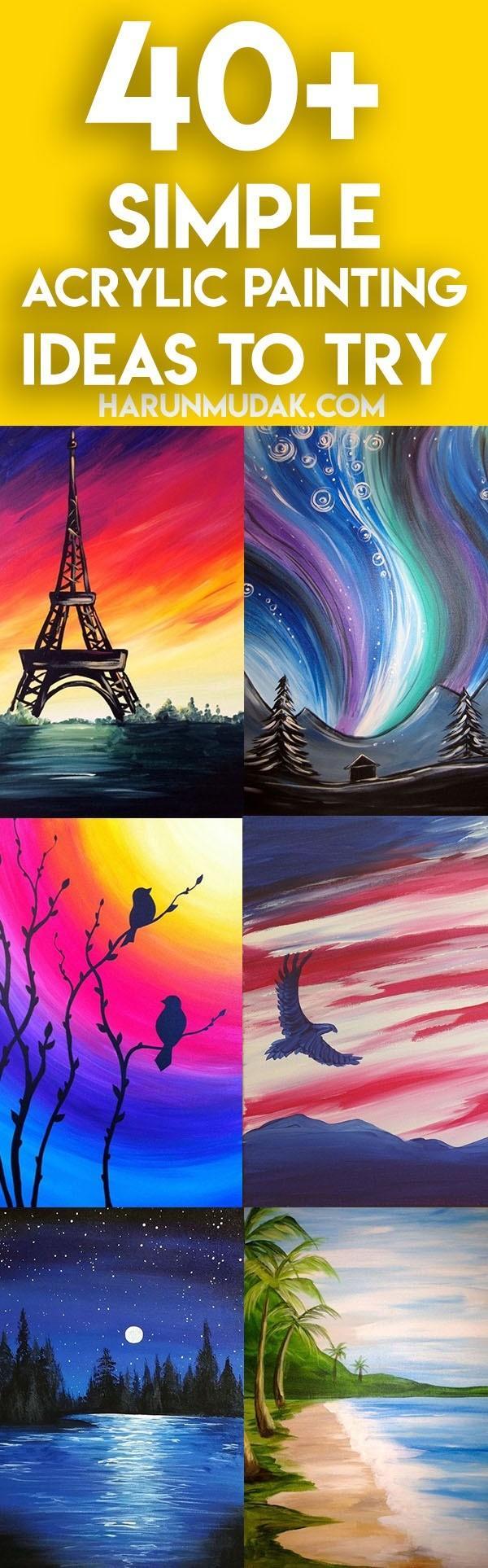 40 Simple Acrylic Painting Ideas To Try Harunmudak