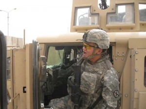 1st Lt. Dan Choi in Iraq before his discharge under the DADT policy (Photo from The Navy Times)