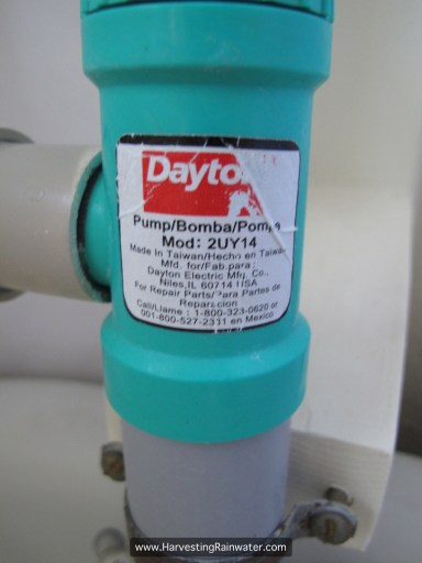 Fig. 3. Dayton hand pump label