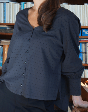 cotton blouse nearly black