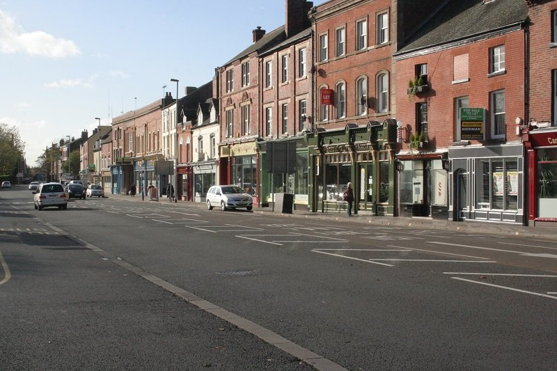 As Swadlincote builders, we work all over the Midlands. This picture shows our work on shop fronts in Burton on Trent.