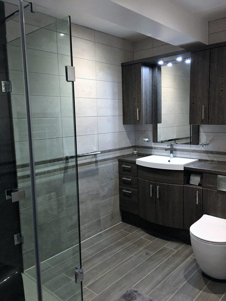 wet room shower view