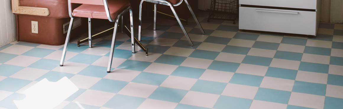 retro luxury vinyl tile flooring