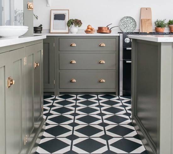 patterned luxury vinyl floor tiles